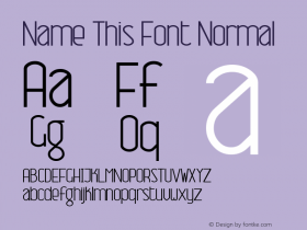 Name This Font Normal Macromedia Fontographer 4.1 7/7/99图片样张