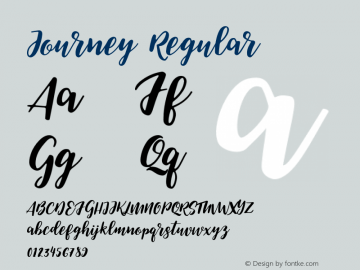 Journey Regular Version 1.000;PS 001.000;hotconv 1.0.88;makeotf.lib2.5.64775 Font Sample