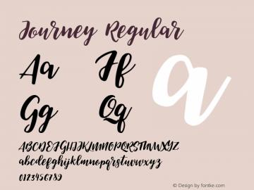 Journey Regular Version 1.000 Font Sample