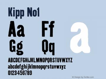 Kipp No1 Macromedia Fontographer 4.1 12/26/97 Font Sample