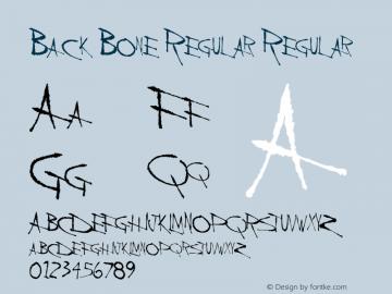 Back Bone Regular Regular Altsys Metamorphosis:11/13/94 Font Sample