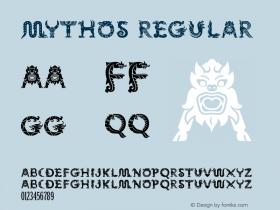 Mythos Regular Macromedia Fontographer 4.1 1/11/98 Font Sample