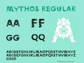 Mythos Regular Macromedia Fontographer 4.1 8/14/97 Font Sample