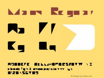 Miami Regular Unknown Font Sample
