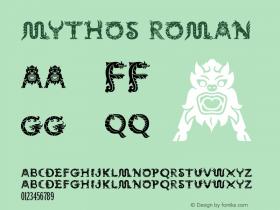 Mythos Roman Version 1.00 Font Sample