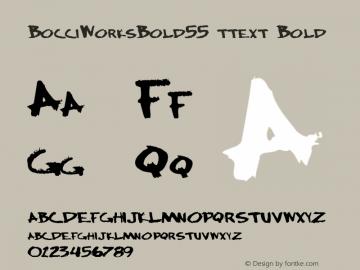 BocciWorksBold55 ttext Bold Altsys Metamorphosis:10/28/94图片样张