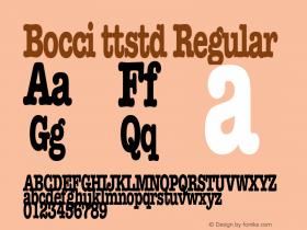 Bocci ttstd Regular Altsys Metamorphosis:11/12/94 Font Sample
