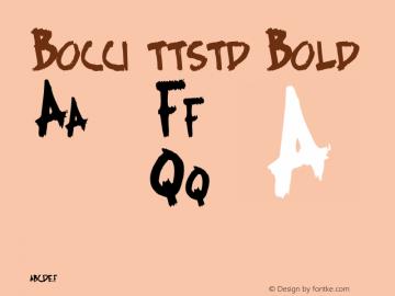 Bocci ttstd Bold Altsys Metamorphosis:11/12/94 Font Sample