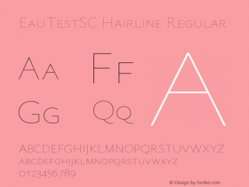 EauTestSC Hairline Regular Version 0.001 Font Sample