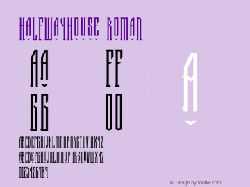 HalfwayHouse Roman Version 1.00 Font Sample