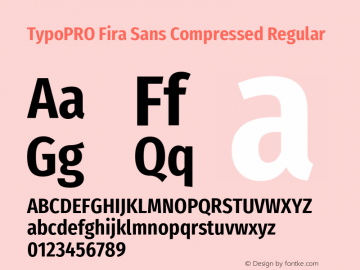TypoPRO Fira Sans Compressed Font,TypoPRO Fira Sans