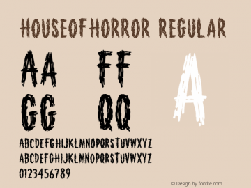 HouseofHorror Regular Version 1.000;PS 001.000;hotconv 1.0.38 Font Sample