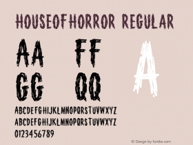HouseofHorror Regular Version 001.000 Font Sample