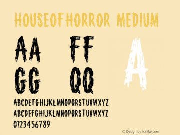 HouseofHorror Medium Version 001.000 Font Sample
