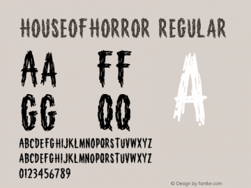 HouseofHorror Regular 001.000 Font Sample