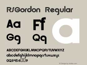 RSGordon Regular Macromedia Fontographer 4.1 12/20/97图片样张