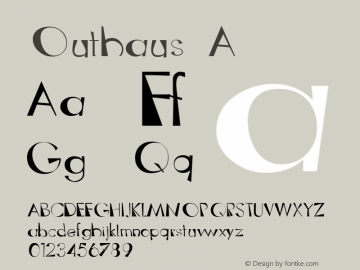 Outhaus A Macromedia Fontographer 4.1 12/19/97 Font Sample