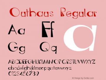 Outhaus Regular 001.000 Font Sample