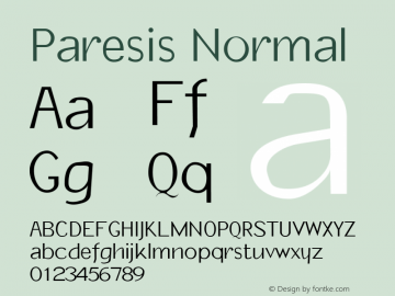 Paresis Normal 1.0 Tue Oct 11 17:45:20 1994图片样张