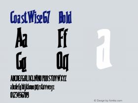 CoastWise67 Bold Altsys Metamorphosis:10/28/94 Font Sample