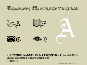 Phantasy Dingbats Regular Altsys Metamorphosis:3/7/92图片样张