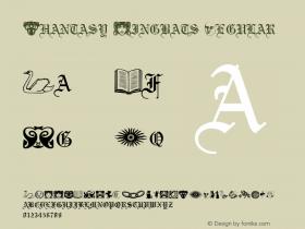 Phantasy Dingbats Regular Altsys Metamorphosis:3/7/92 Font Sample