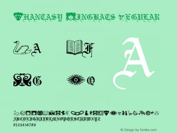 Phantasy Dingbats Regular Altsys Metamorphosis:3/7/92图片样张