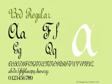 Bed Regular Altsys Metamorphosis:11/13/94 Font Sample