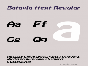 Batavia ttext Regular Altsys Metamorphosis:10/28/94图片样张