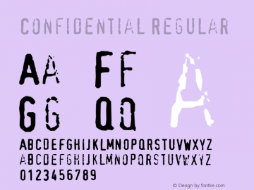 Confidential Regular Macromedia Fontographer 4.1 12/27/97 Font Sample