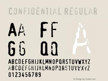 Confidential Regular 001.000 Font Sample