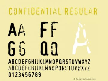Confidential Regular Altsys Metamorphosis:18.08.1999 Font Sample