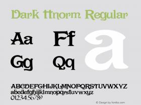 Dark ttnorm Regular Altsys Metamorphosis:10/27/94图片样张