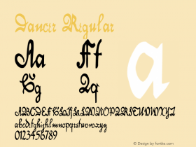 Dancer Regular Altsys Metamorphosis:11/13/94 Font Sample