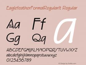 EaglefeatherFormalRegularIt Regular Macromedia Fontographer 4.1 11/23/97图片样张
