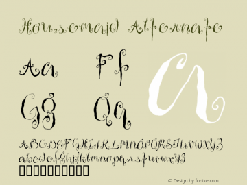 Housemaid Alternate Macromedia Fontographer 4.1 12/26/97图片样张