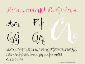 Housemaid Regular Version 1.000;PS 001.000;hotconv 1.0.38 Font Sample