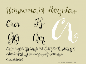 Housemaid Regular Version 1.00 Font Sample
