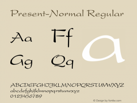 Present-Normal Regular Converted from D:\FONTTEMP\PRESDENN.TF1 by ALLTYPE Font Sample