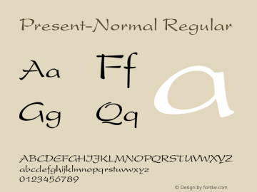 Present-Normal Regular Converted from D:\FONTTEMP\PRESDENN.TF1 by ALLTYPE图片样张