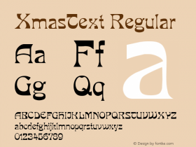 XmasText Regular Altsys Metamorphosis:5/3/93图片样张