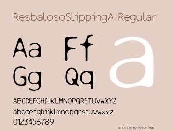 ResbalosoSlippingA Regular Macromedia Fontographer 4.1 12/25/97 Font Sample