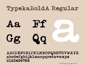 TypekaBoldA Regular Macromedia Fontographer 4.1 12/27/97图片样张