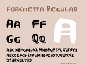 Forchetta Regular 001.000 Font Sample