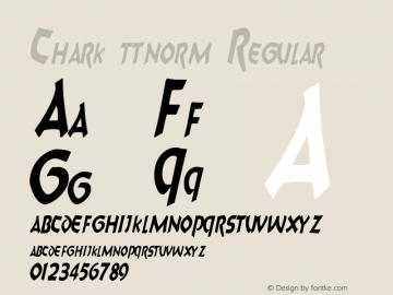 Chark ttnorm Regular Altsys Metamorphosis:10/27/94图片样张