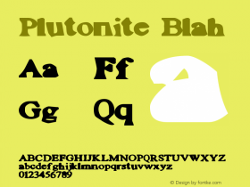 Plutonite Blah Macromedia Fontographer 4.1 10/7/97 Font Sample