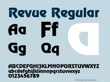Revue Regular 001.000 Font Sample