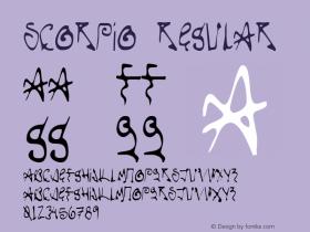 Scorpio Regular Version 1.000 Font Sample