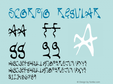 Scorpio Regular Version 001.000 Font Sample