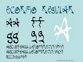 Scorpio Regular Version 1.000;PS 1.000;hotconv 1.0.38 Font Sample